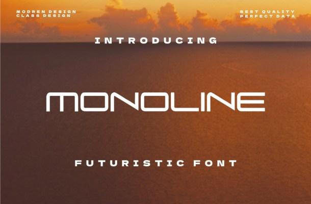 Monoline Font