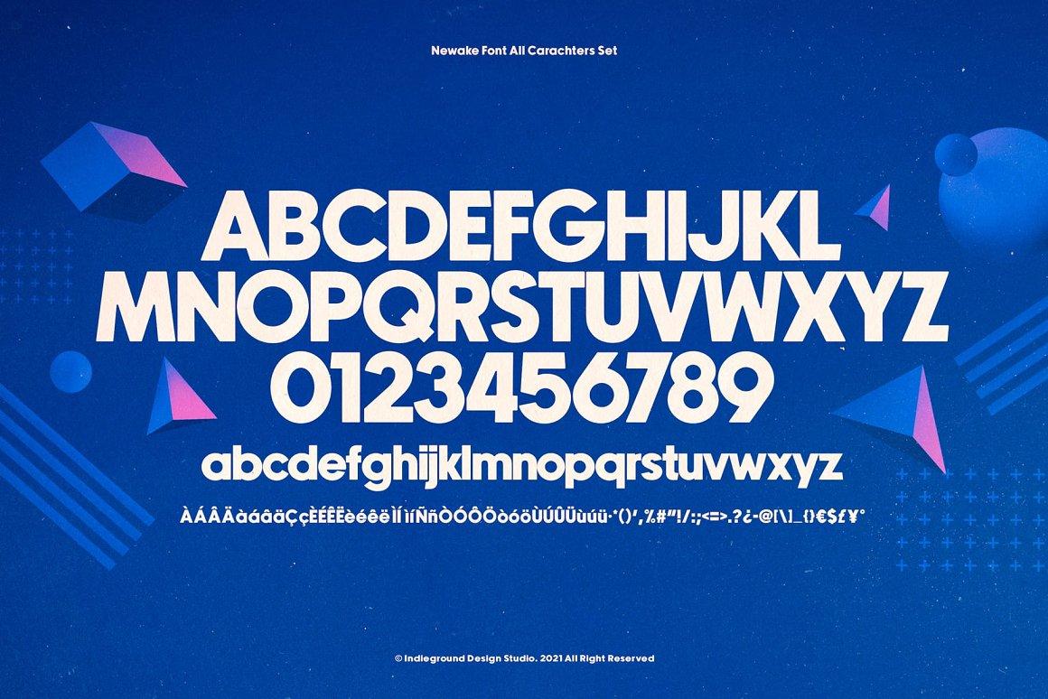 Newake Font-3