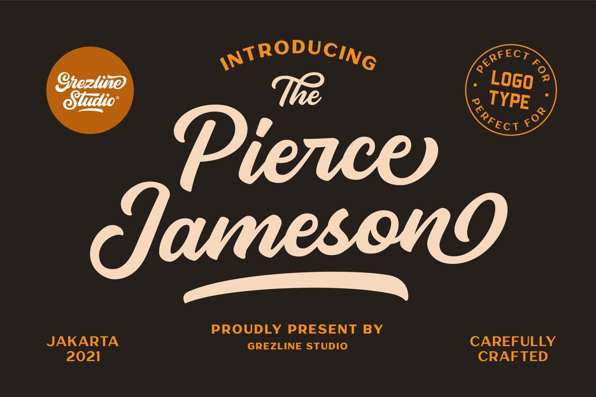 Pierce Jameson Font Duo