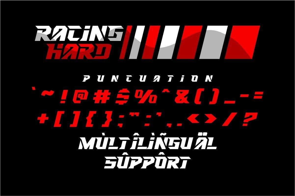 RACING HARD Font-3