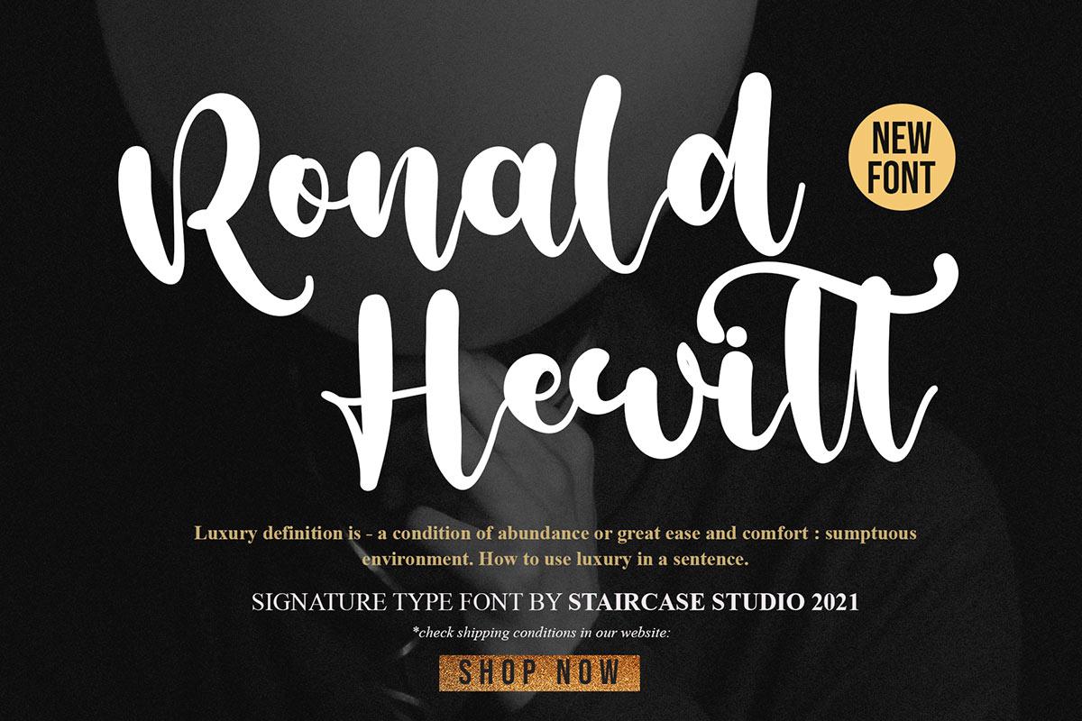 Ronald Hewitt Font