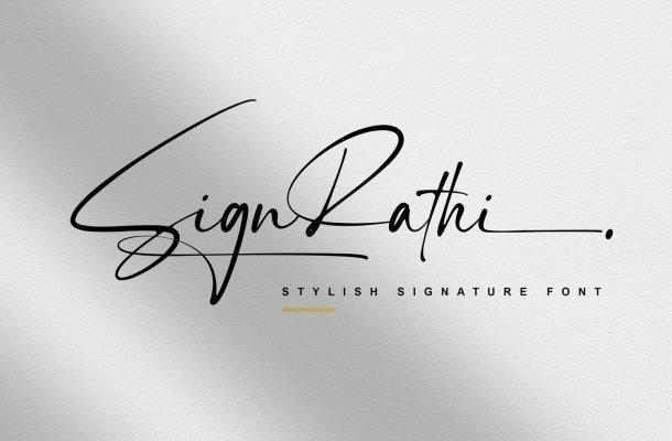 Sign Rathi Font