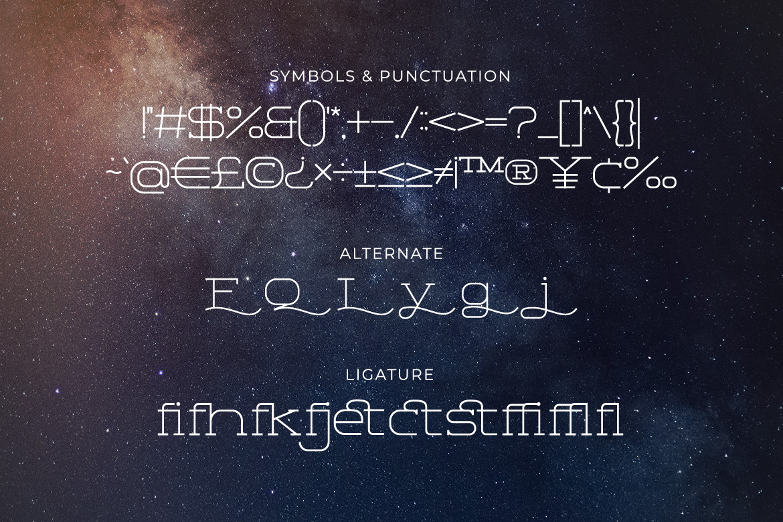 Space Corner Font-3
