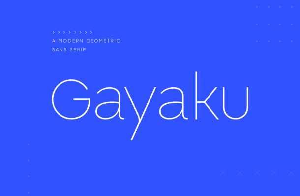Gayaku Font