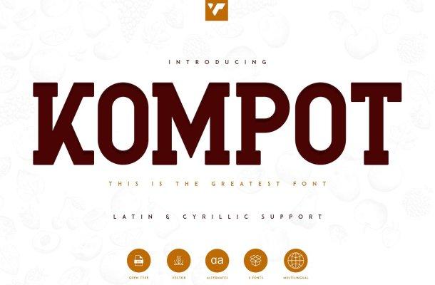 Kompot Slab Font