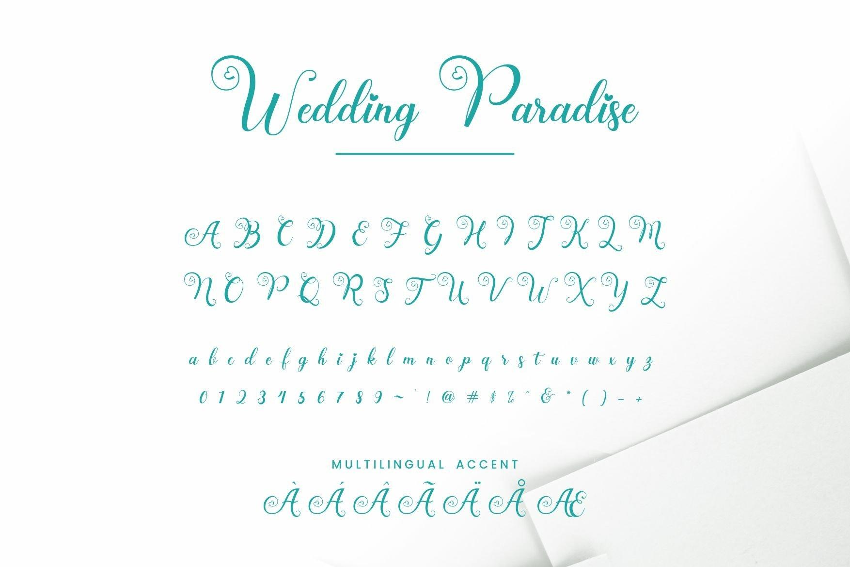 Wedding Paradise Font-3