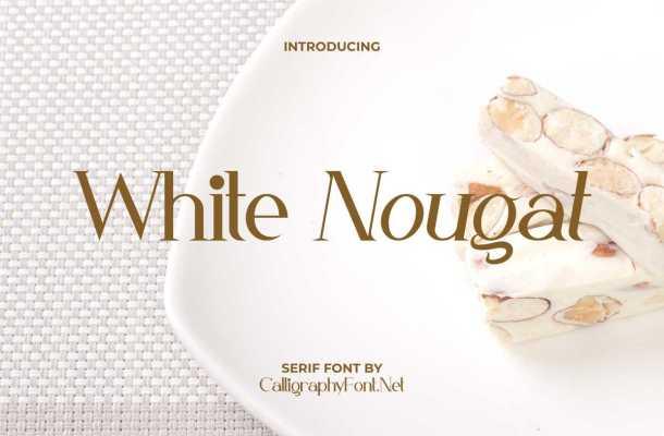 White Nougat Font