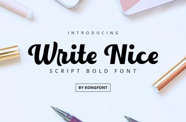Write Nice Font