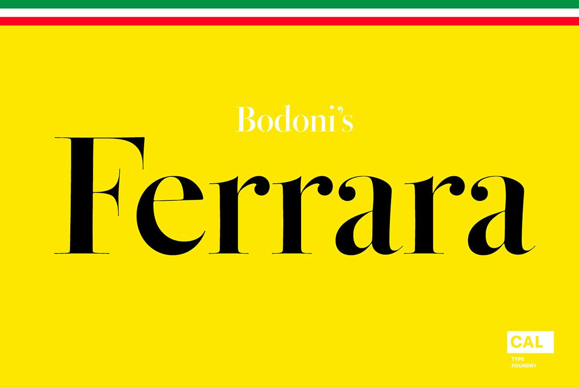 Bodoni Ferrara Font Family