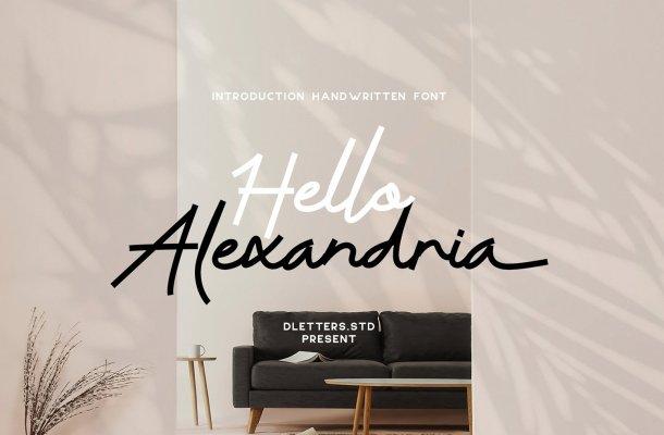 Hello Alexandria Font