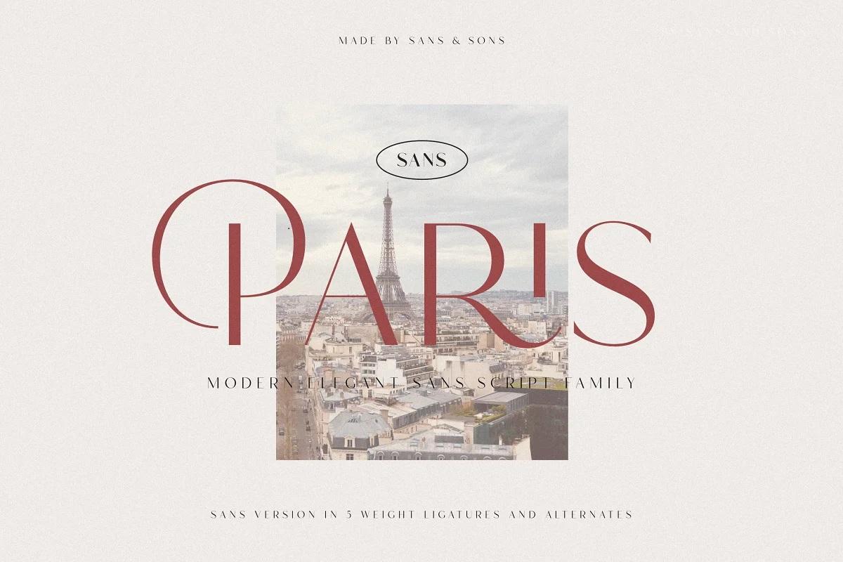 Hello Paris Sans Font
