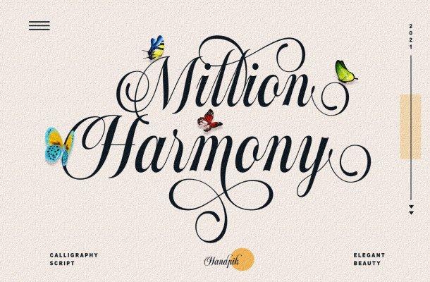 Million Harmony Font