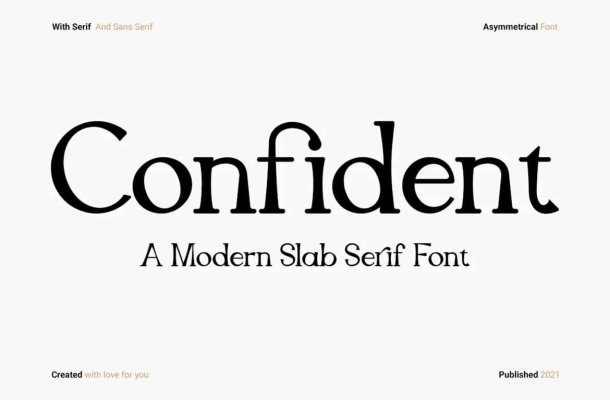 Confident Font