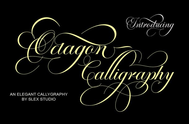 Octagon Calligraphy Font