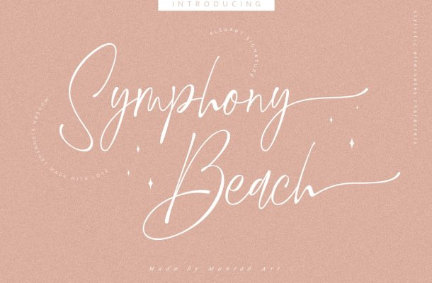 Symphony Beach Font
