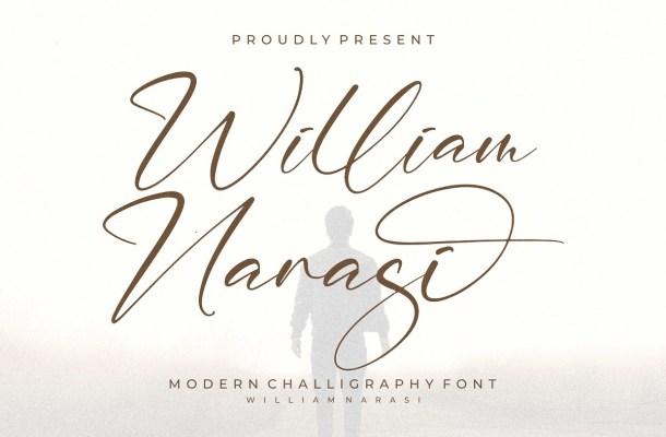 William Narasi Calligraphy Font