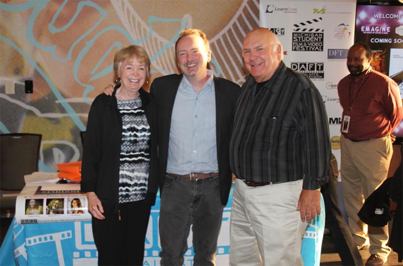 "Rochester's own Doug Blush, editor of the 2014 Oscar-winning documentary ""Twenty Feet from Stardom"" at the Royal Oak Emagine benefit screening for DAFT."