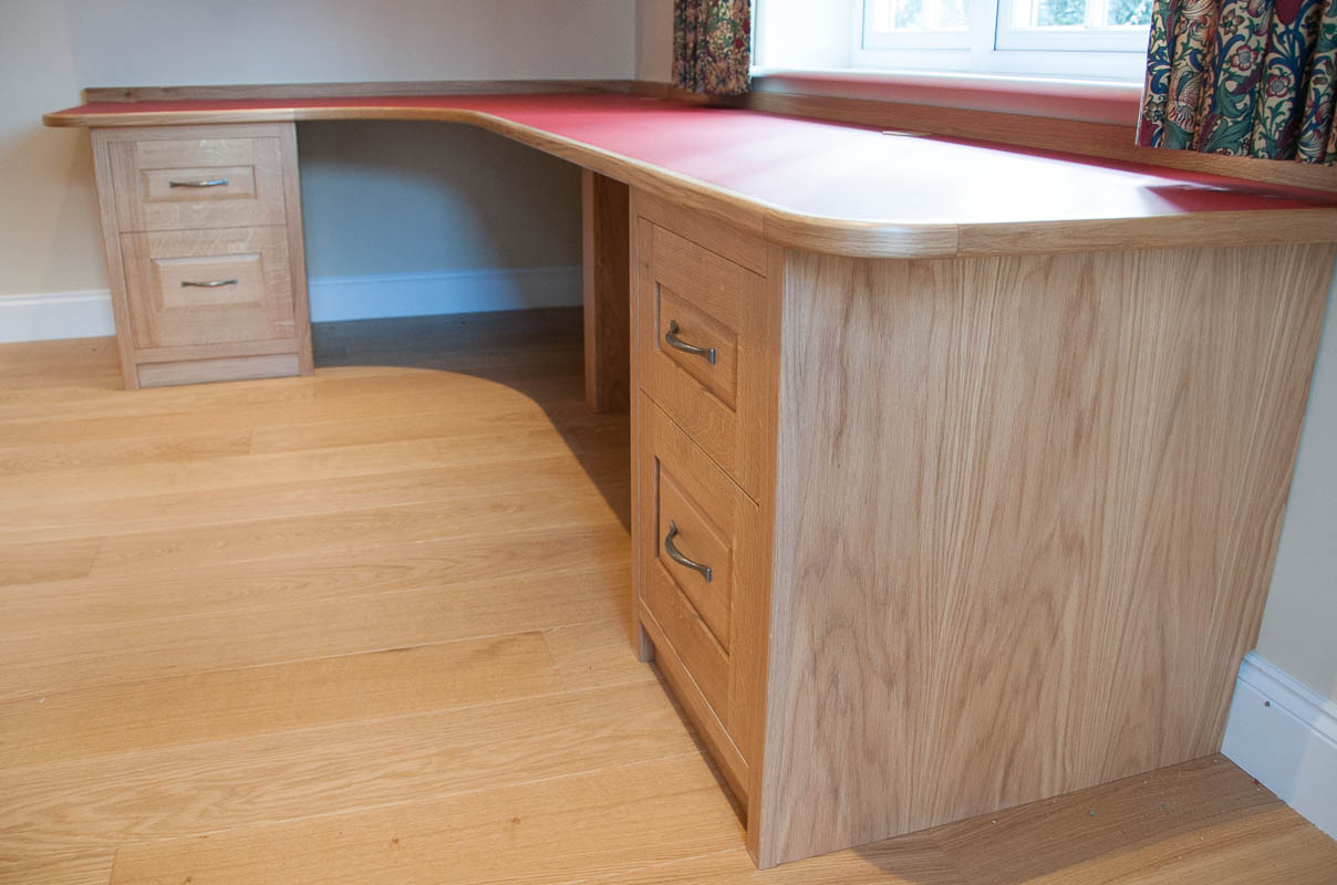Builtin oak desk and bookcases  David Armstrong Furniture