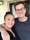 COHABITANTE: La familia comparte una foto de Eirik con la pareja de Kine.  Foto: Privado