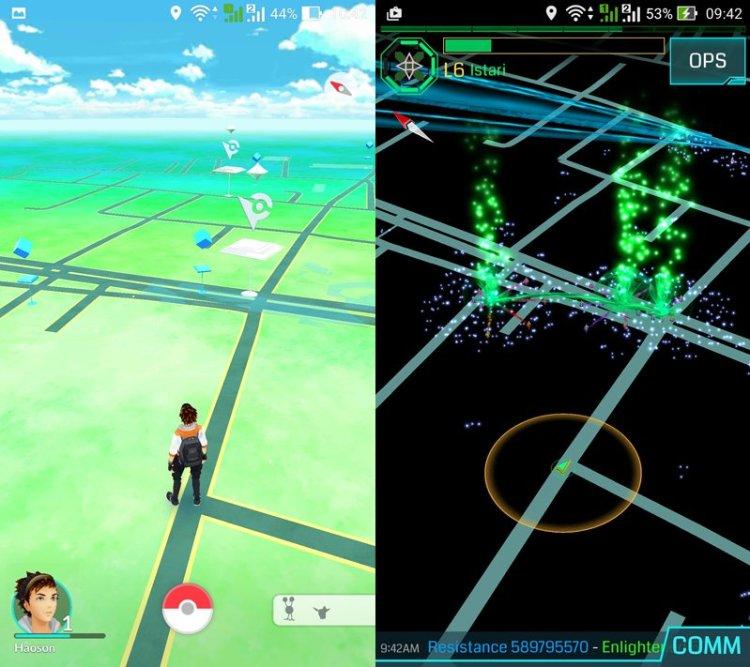 Pokemon Go - Ingress side by side DAGeeks