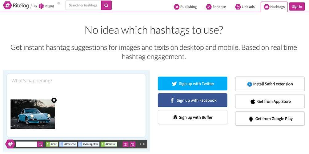 ritetag tool for social media best practices