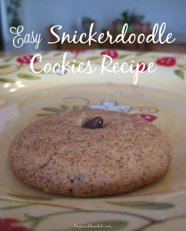 easy snickerdoodle cookies recipe,  DagmarBleasdale.com
