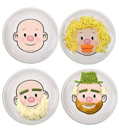 Food Face plate, perfect for picky eaters, DagmarBleasdale.com