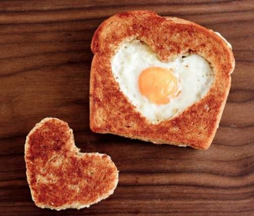 Valentine's Day DIY Decorating, Food & Gift Ideas, DagmarBleasdale.com, heart-shaped egg in toast