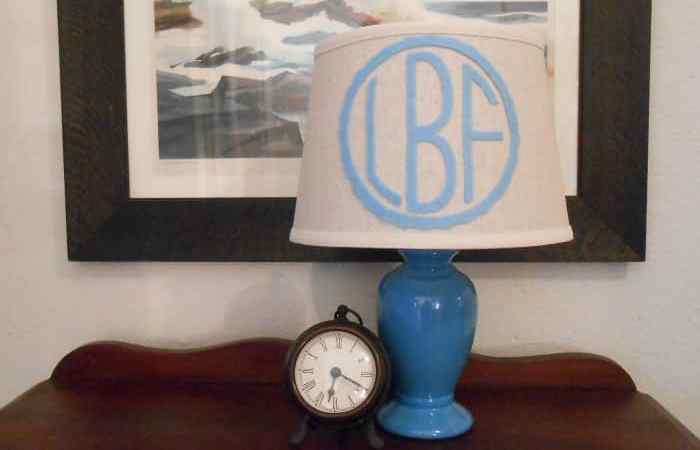 DIY Project: Monogram Lampshade