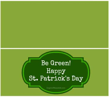 Healthy, Dye-Free St. Patrick's Day Snacks and Free Printable Goodie Bag Topper