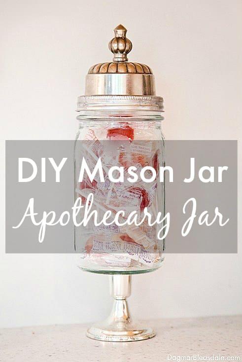 mason jar apothecary jar, DagmarBleasdale.com