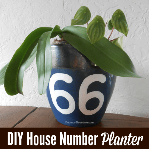 DIY Planter With House Number, DagmarBleasdale.com