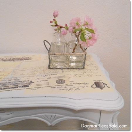 Mod Podge Table Tutorial – DIY Project With Vintage Letters