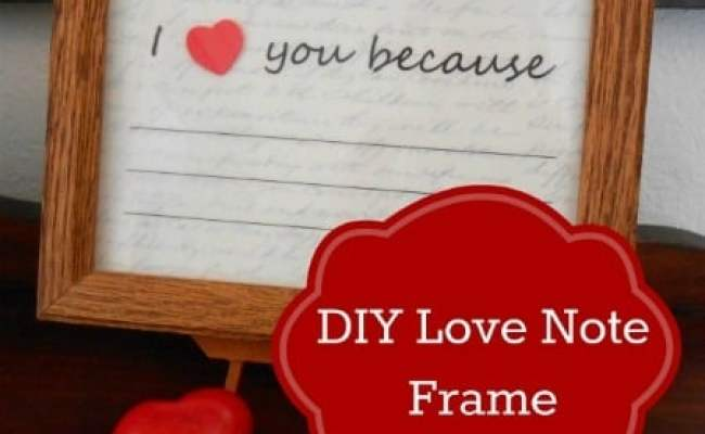 Diy Valentine S Day Gift Reusable I Love You Because Frame