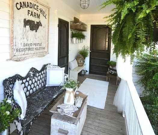 Porch Decorating Ideas for the Blue Cottage