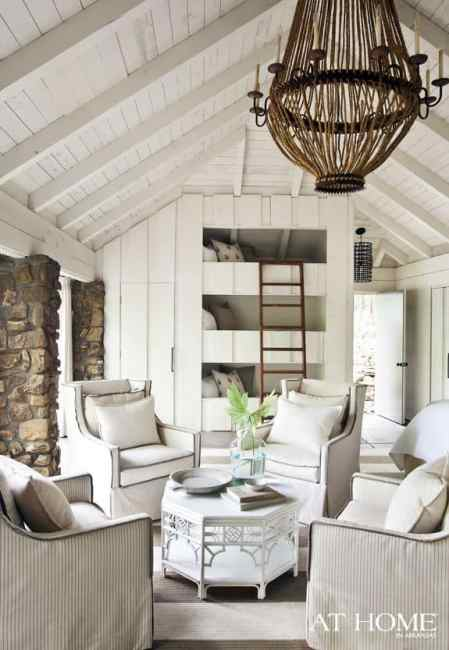 country cottage decor attic