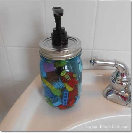 Lego Soap Dispenser, a Great DIY Gift for Kids