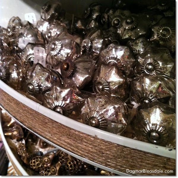 Anthropologie gift ideas, mercury glass drawer pulls