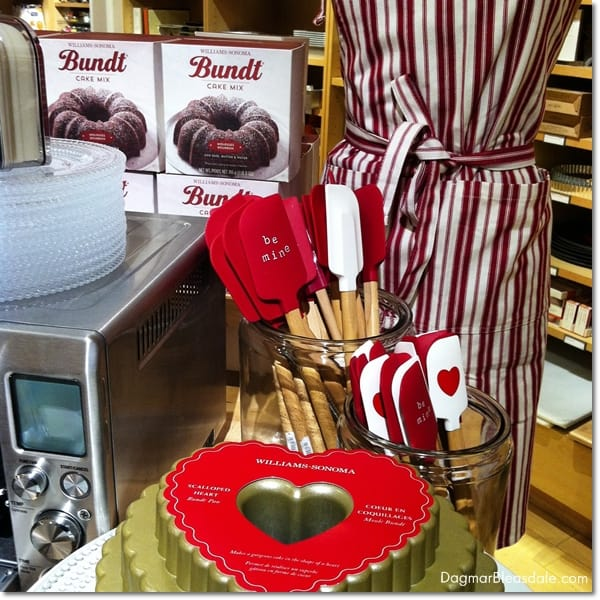 Valentine's Day itmes at Williams Sonoma