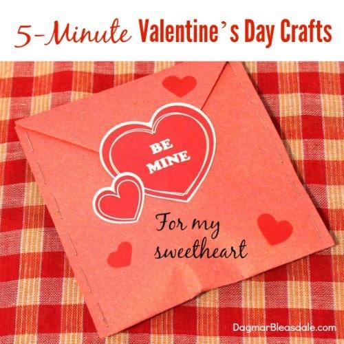 5-minute Valentine's Day crafts, DagmarBleasdale.com