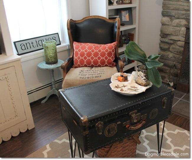 vintage trunk coffee table. DagmarBleasdale.com