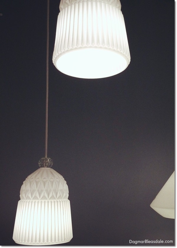 IKEA milkglass pendant light