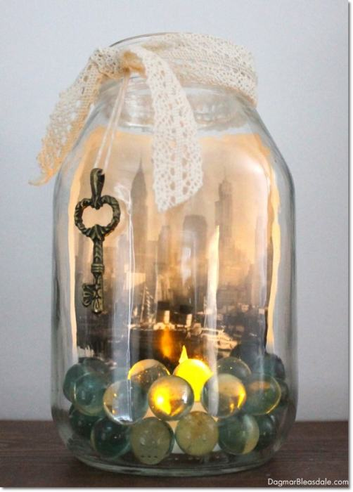 upcycle glass jar