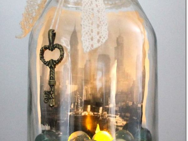 Celebrate Earth Day by Upcycling a Glass Jar Into a DIY Candle