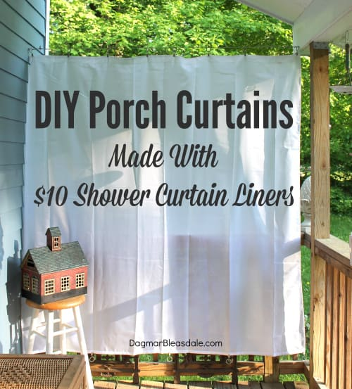 diy porch curtains made with 10 shower