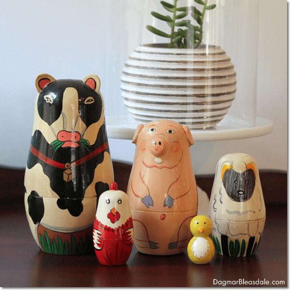 animal nesting dolls, DagmarBleasdale.com