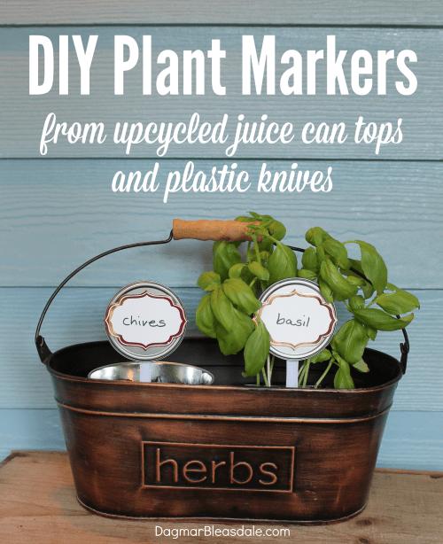DIY plant markers, DagmarBleasdale.com