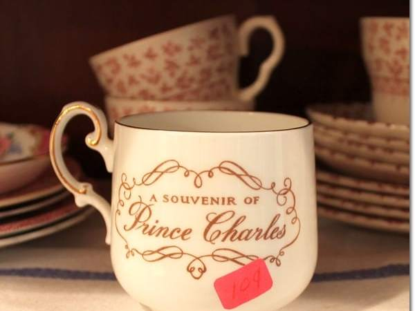 """Thrifty & Vintage Finds"" Link Party #77 — Prince Charles Mug"