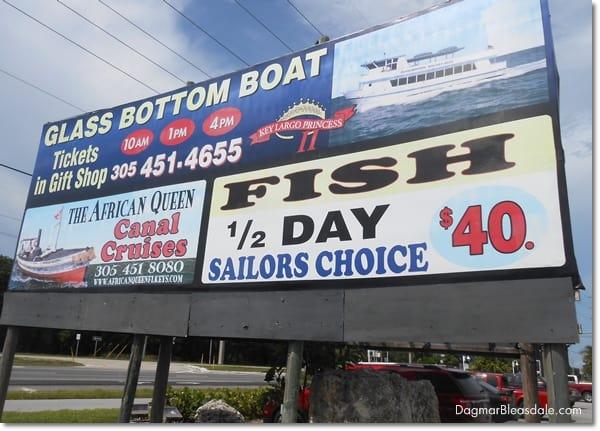 Key Largo glass bottom boat tour, Florida