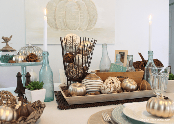 My Coastal Fall Tablescape for the HomeGoods Blog